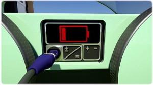 E-Fahrzeug wird angeschlossen